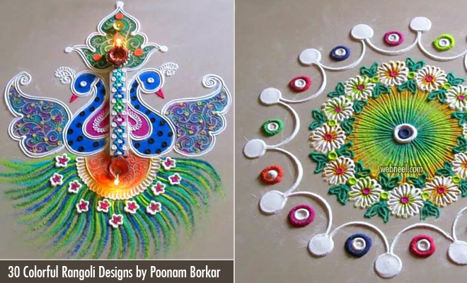 30 Colorful and Beautiful Diwali Rangoli Designs by Poonam Borkar