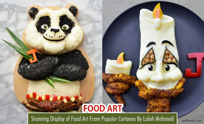 Stunning Food Art ideas with popular cartoons by Laleh Mohmedi