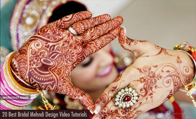 20 Best Bridal Mehndi Design Video Tutorials - Full Hand Mehndi designs