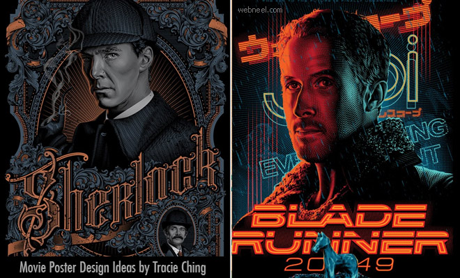 Movie Poster Designs in a never seen before - Creative ideas by Tracie Ching