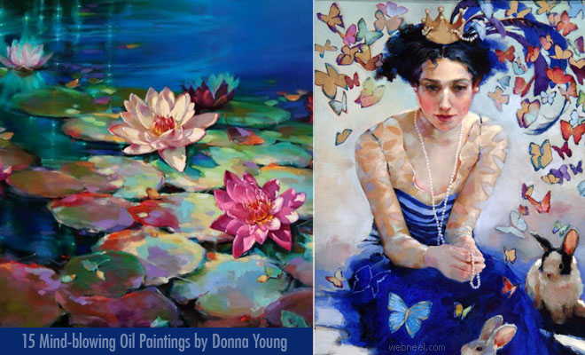 Flowing Water Fills The Poetic Mind Oil Paintings by Donna Young