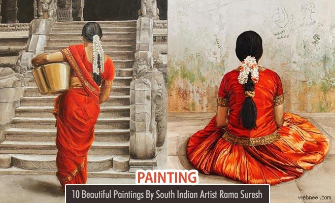 Life at a village - Beautiful paintings by Tamilnadu artist Rama Suresh