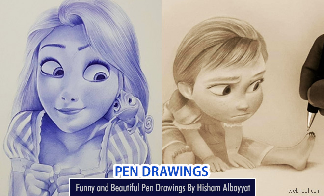 Funny and Beautiful Pen Drawings By Hisham Albayyat