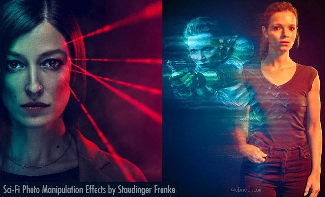 Stunning Sci-Fi Laser effect Photo Manipulation works by Staudinger Franke