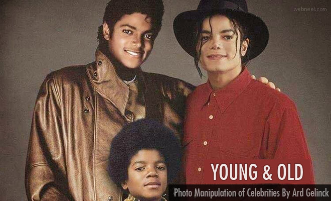 Young and Old Reel - Back through time Photo Manipulation of Celebrities By Ard Gelinck