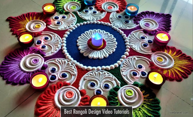 20 Beautiful Rangoli Design Tutorials and Time-lapse Rangoli Videos