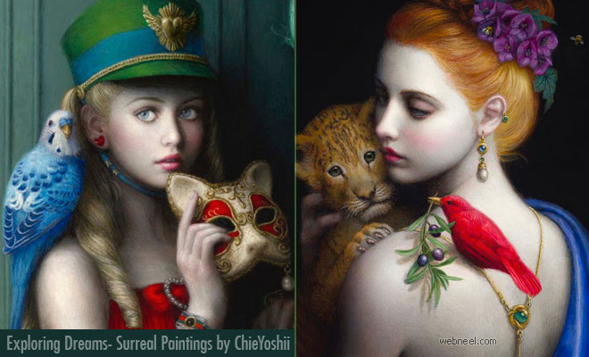 Exploring Dreams - Creative Surreal Art Paintings by Chie Yoshii