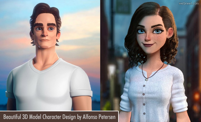 15 Creative 3D Model character designs by Alfonso Petersen