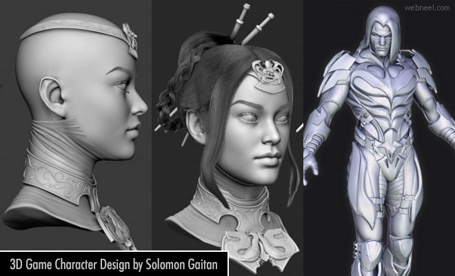 20 Awesome 3D Game Character Designs by Solomon Gaitan