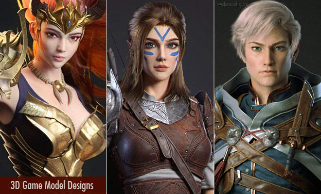 Stunning Fantasy 3D Game Model Designs created by the training students at YCFCG China