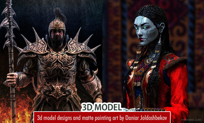 20 Stunning 3d model designs and Matte paintings by Daniar Joldoshbekov
