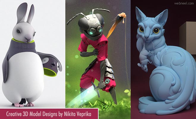Out of the Box - 3d Model Character design ideas by Nikita Veprika
