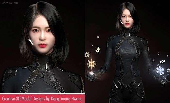 Creative 3D Model designs by South Korean artist Dong Young Hwang