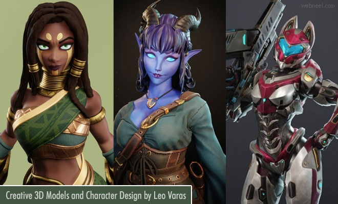 25 Creative CGI 3D Models and Character designs by Leo Varas