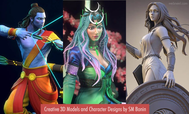 20 Stunning 3D models and Character Designs by Bangladesh Artist SM Bonin