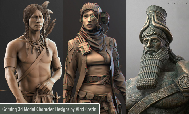 War Hammers - 20 Beautiful 3D Model character designs by Vlad Costin