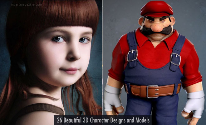 26 Beautiful 3D Character Models and 3D Illustrations for your inspiration