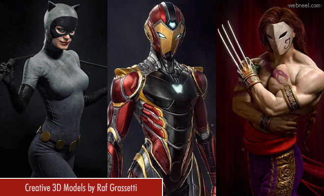 20 Stunning 3D Model Character Designs by Raf Grassetti1