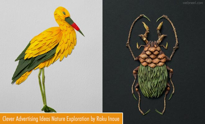 Clever advertising ideas a peak into nature by Raku Inoue1