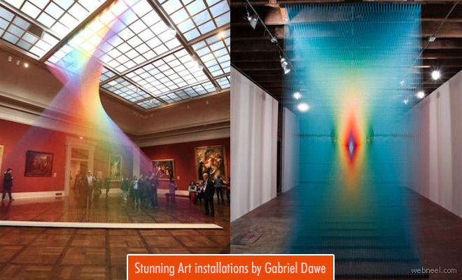 Stunning Embroidery Thread Art Installation ideas by Gabriel Dawe