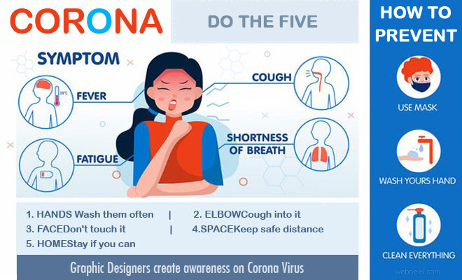 Graphic Designers create awareness on Corona Virus with Catchy Designs