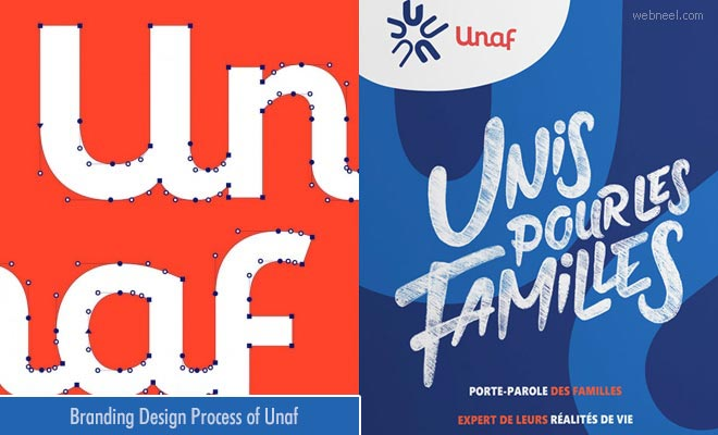 Design Process of Unaf - Logo and Branding Identity Designs by Grapheine