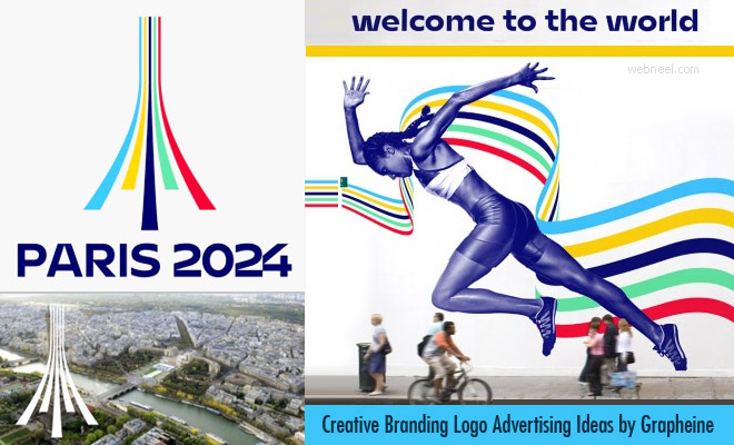 Olympics 2024 creative branding logo identity ideas by Grapheine