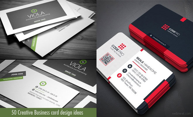 50 Creative Business card design ideas for your inspiration