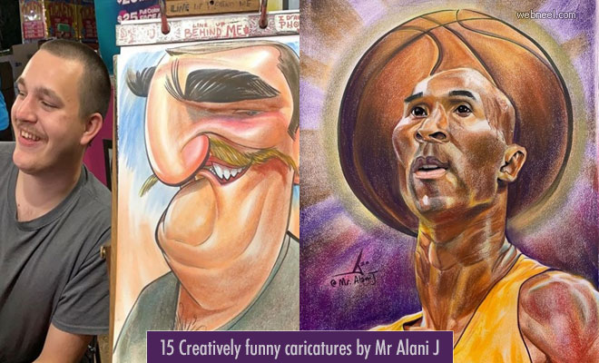 The Fastest Caricature Making Artist Alani - 15 Funny Caricature Drawings