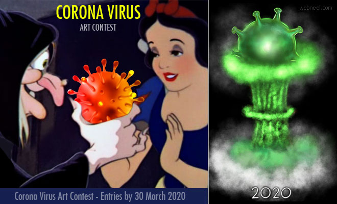 Corona Virus Art Contest - We defeat Corona Virus | Entries by 30 March 2020