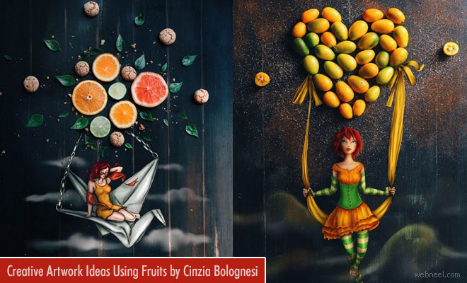 Fruity Fun - Creative Artwork ideas and Digital illustrations by Cinzia Bolognesi