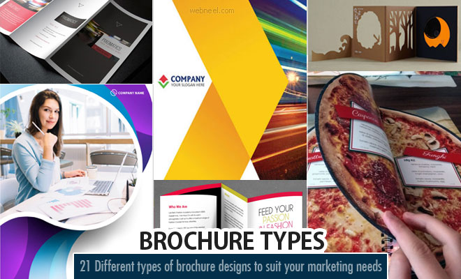 Different Types of brochure Designs