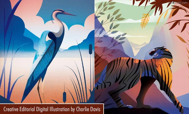 A New Era of Storytelling - Beautiful Editorial Digital illustration artworks by Charlie Davis