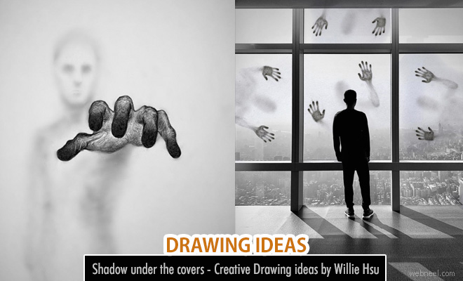 Shadow under the covers - Creative Drawing ideas by Willie Hsu