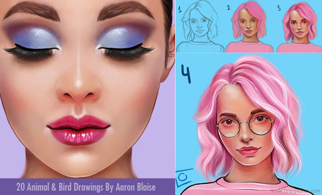 Step By Step Drawing and Digital Painting Tutorials Using Procreate App By Flo