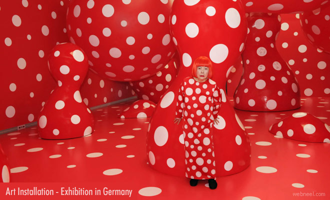 Art Installation Exhibition of world famous Yayoi Kusama - Sep 4 2020 to Jan 2021 in Germany