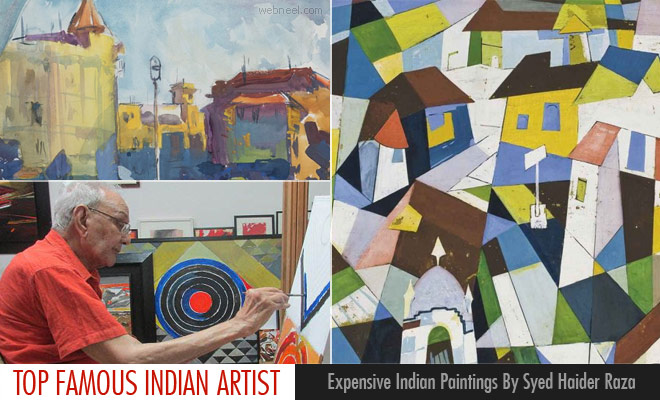 15 Expensive Indian Paintings By Famous Indian Artist Syed Haider Raza1