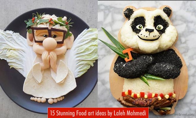 Disney Characters in Stunning Avatars Food Art by Laleh Mohmedi