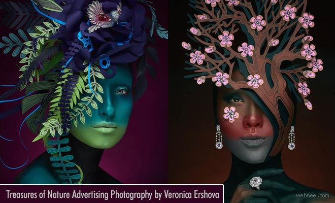 Treasures of Nature - Russian Jewelry Advertising photography ideas by Veronica Ershova