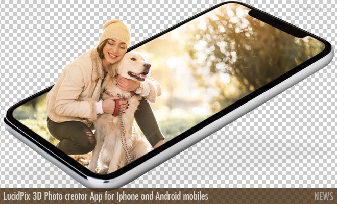LucidPix 3D Photo creator App for Iphone and Android mobiles