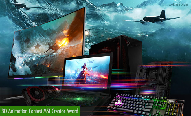 3D Animation Contest MSI Creator Award - Entries by 13 May 2020