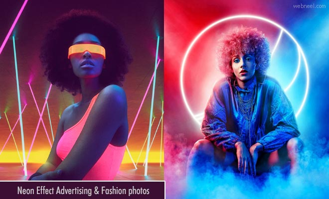 20 Stunning Neon effect Advertising and Fashion Photography ideas