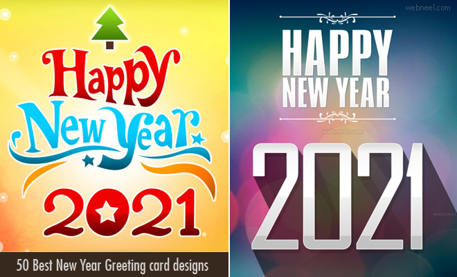 New Year Greeting card 2021