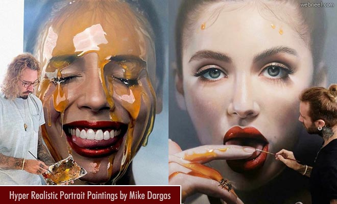 Fluid control - 20 Hyper Realistic Portrait Oil Paintings by Mike Dargas