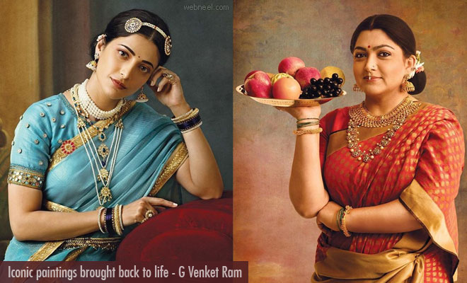 Iconic old Paintings brought back to life through G Venket Ram Photography