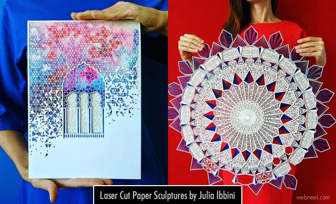 Intricate Designed Laser Cut Paper Sculptures by Julia Ibbini