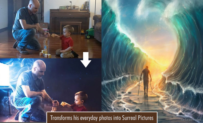 15 After Before Photo manipulations by Kevin Carden - Transforms his everyday Photo into Surreal pictures