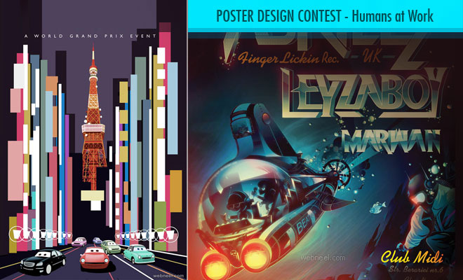 Poster Design Contest Humans at Work - entries by 10 April 2020