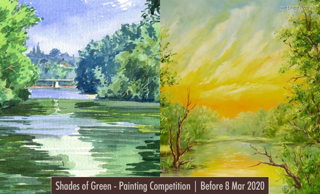 Shades of Green - International Online Painting Competition | Before 8 Mar 2020