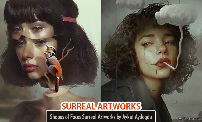 Shapes of Faces Surreal Artworks by Aykut Aydogdu